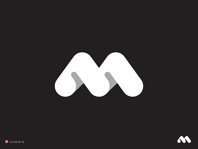 M m letterform letter monogram type illustration logotype design identity symbol mark logo
