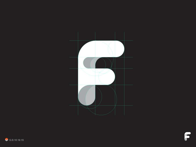 F* f letterform letter monogram type illustration logotype design identity symbol mark logo