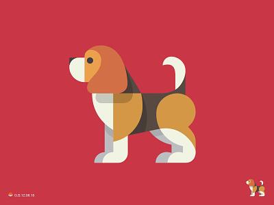 Beagle pet beagle hound dog animal symbol george bokhua mark milash logo