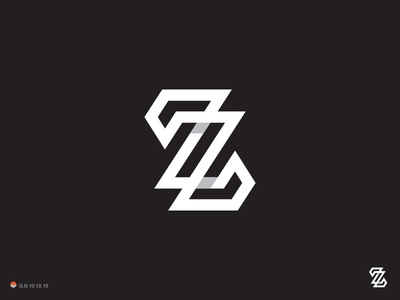 Zz z monogram identity symbol mark logo