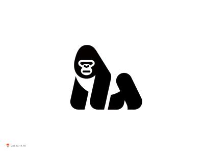 Gorilla ape gorilla bird identity symbol mark logo