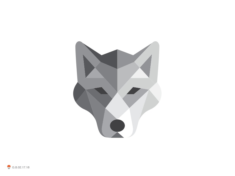 Wolf Poly wild animal wolf identity symbol mark logo