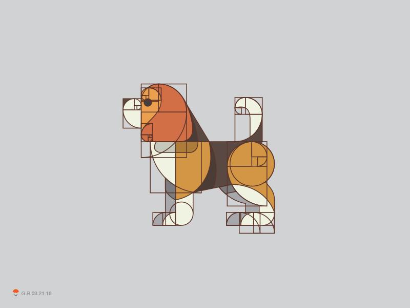 Beagle Grid grid beagle god identity symbol mark logo