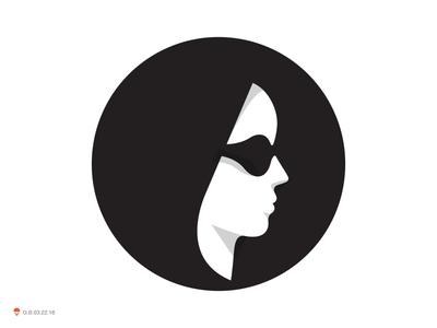 A Girl female women illustration identity symbol mark logo
