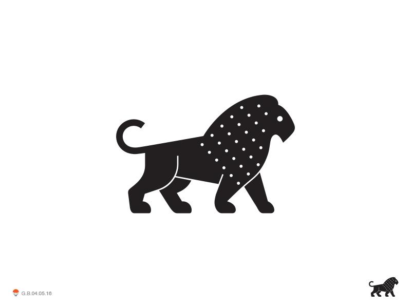 Black Lion black cat lion identity symbol mark logo