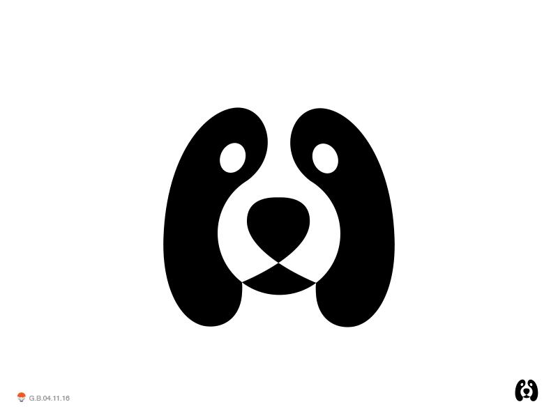 Neg Dog 2 pet animal dog identity symbol mark logo