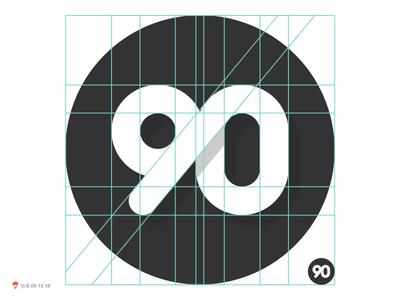 90 numbers type 90 bird identity symbol mark logo