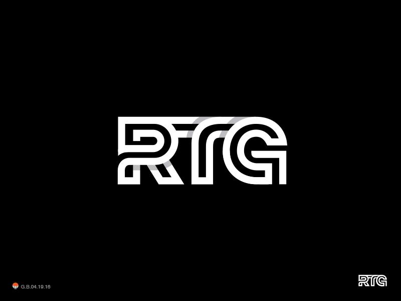 RTG (railway related brand) monogram typography identity symbol mark logo