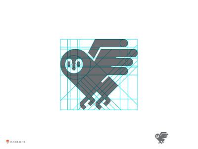 Owl owl bird identity symbol mark logo
