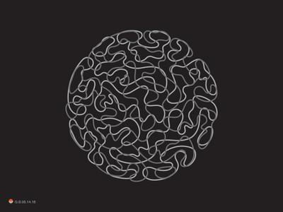 Brain Circle  odd sphere circle brain identity symbol mark logo