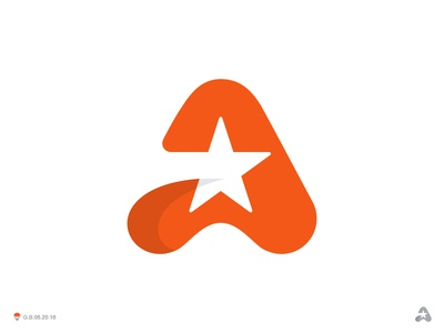 A Star orange star logotype design identity symbol mark logo