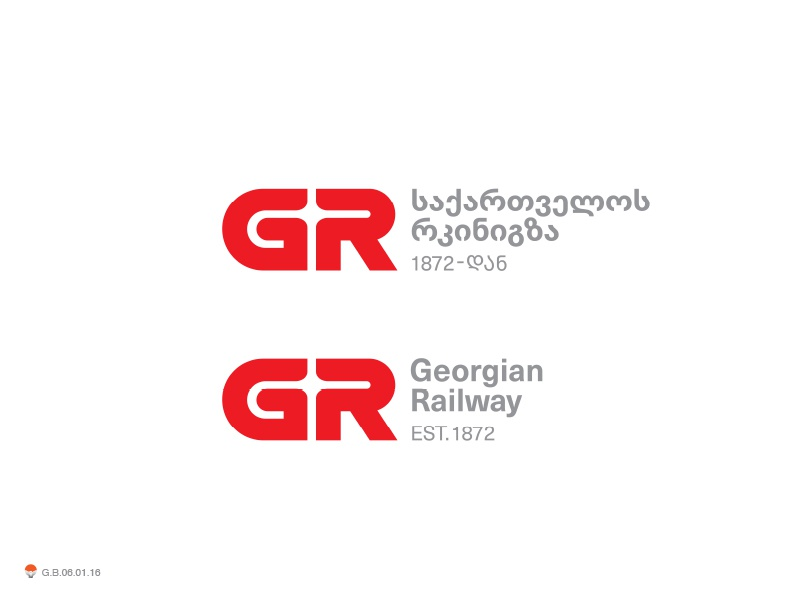 Georgin Railway* typography georgian identity symbol mark logo
