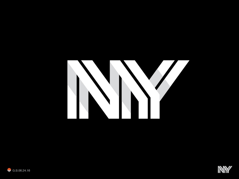 NY type monogram ny new york logotype design identity symbol mark logo