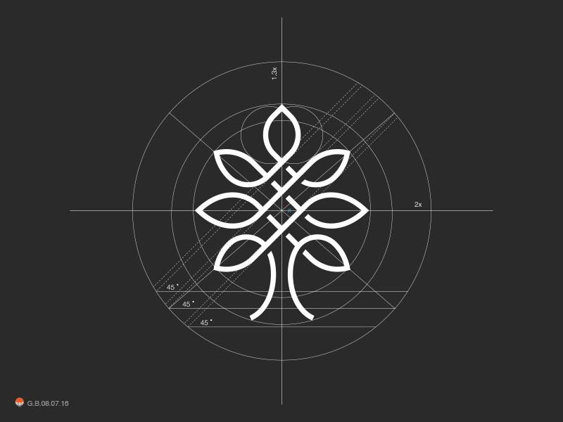 Tree Grid* grid tree univerce circle logotype design identity symbol mark logo