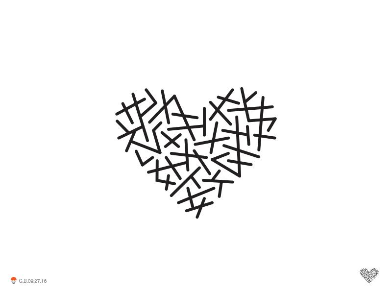 white heart lines