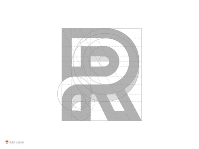 R Grid wordmark letterform letter identity symbol mark logo