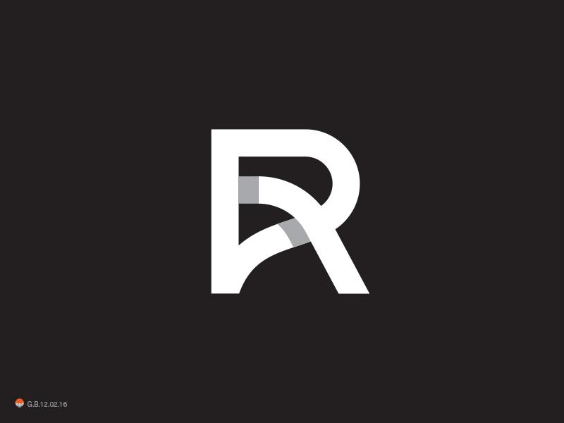 R 2 letterform identity symbol mark logo