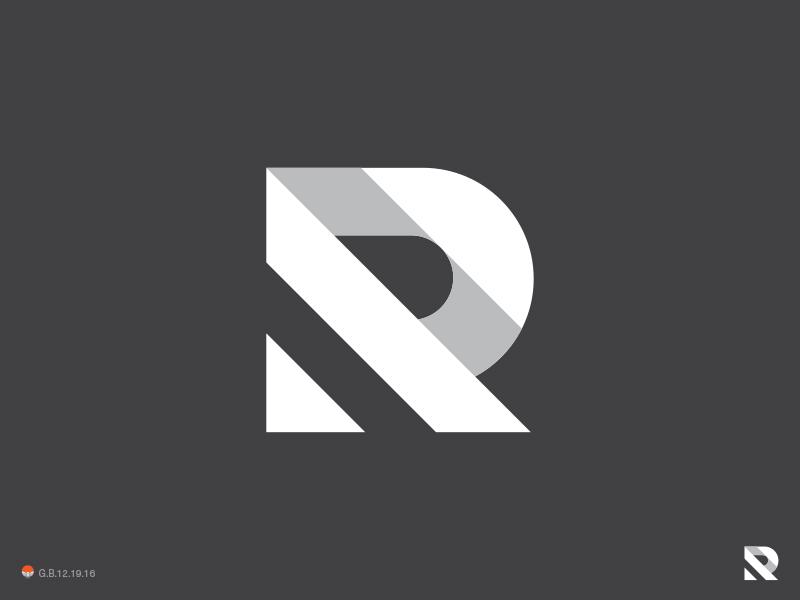 R Simpler r letter identity symbol mark logo