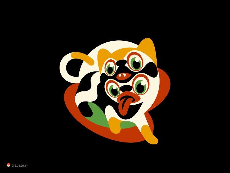 Cats cat illustration logotype identity symbol mark logo