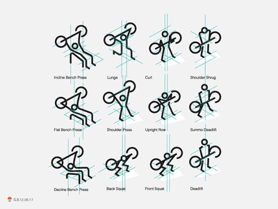 Fitness Icon Exploration experiment sketch icon mark identity typography symbol logo