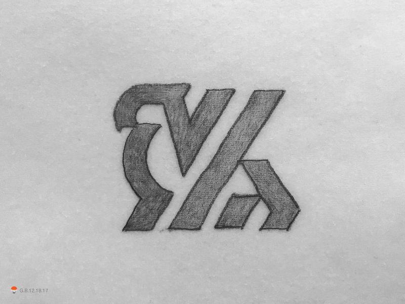 Griffin sketch icon mark identity typography symbol logo