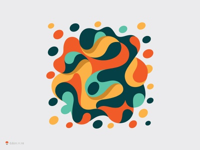 Blobs experiment sketch icon mark identity typography symbol logo