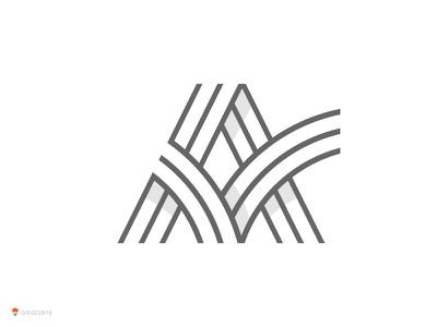 A mark identity typography symbol logo