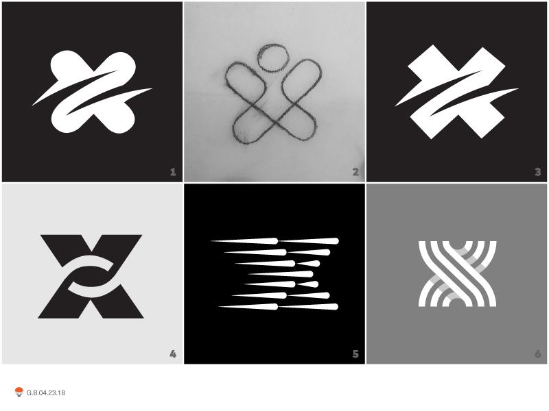 x's experiment sketch icon mark identity typography symbol logo