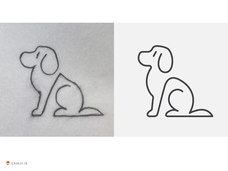 Line Dogs experiment sketch icon mark identity typography symbol logo
