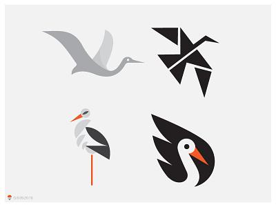 few other storks identity bird icon george bokhua logotype milash symbol logo