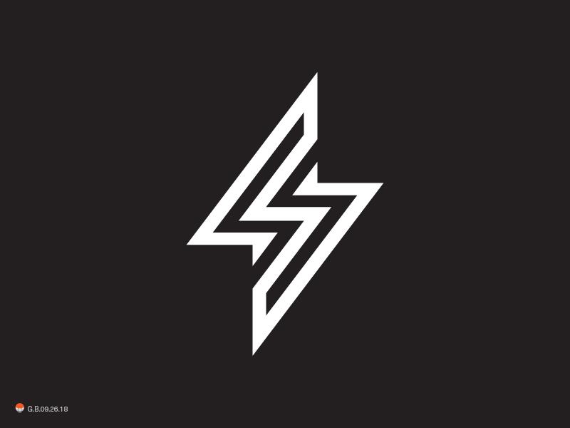 bolt logotype mark symbol logo identity