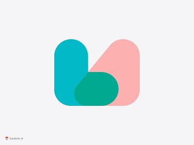 LA mark identity logo