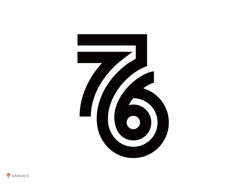 76 symbol identity monogram mark logo