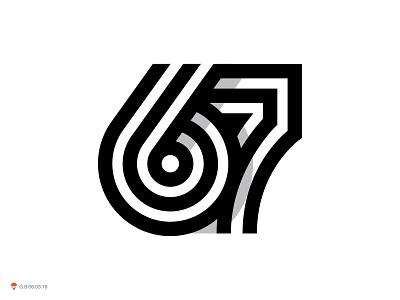 67 symbol number mark logo