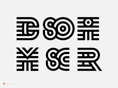 Mono monogram type baranding identity symbol logo