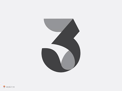 3 typography symbol number mark logo