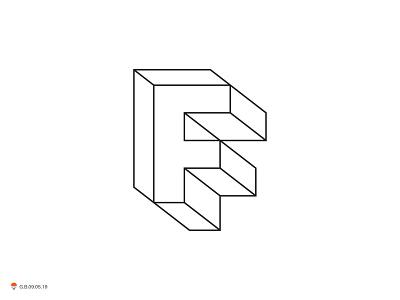 f frame branding identity letter symbol logo