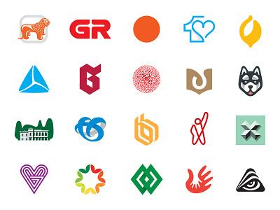 geo logos 01 symbols marks branding identity logo