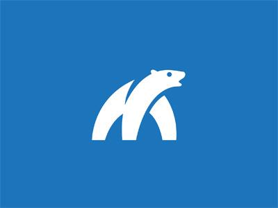Polar Bear polar bear logo mark milash