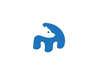 Another Bear milash bear polar george bokhua logo mark negative space