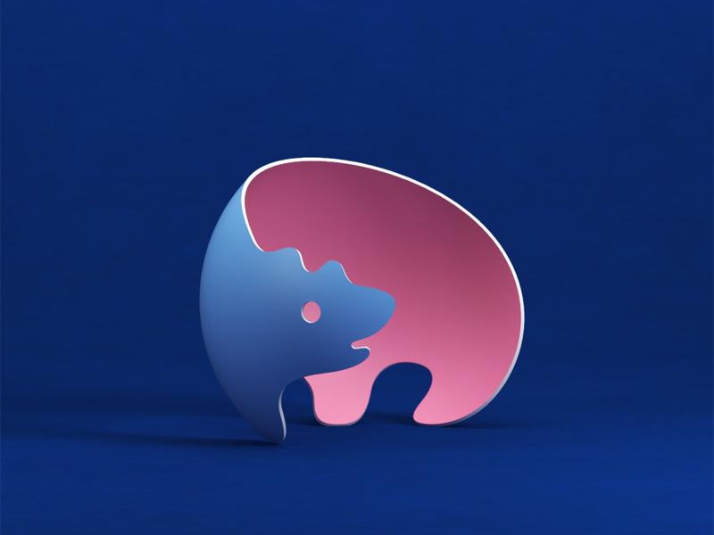 3d 2d Bear 3d bear milash logo mark