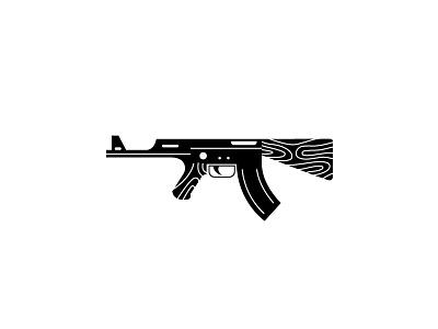 Ka logo mark symbol gun