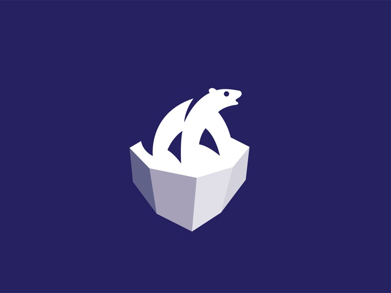 Polar Ice polar bear logo animal mark symbol milash