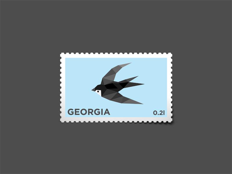 Swallow Stemp stamp logo mark bird milash swallow