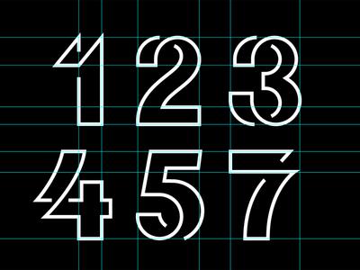123457 1 2 3 4 5 7 number type mark logo
