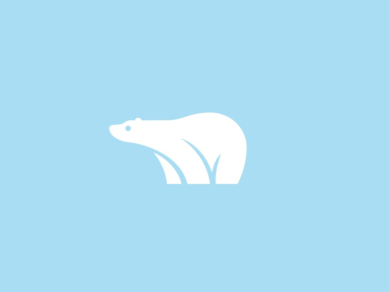 Polar Bear bear mark symbol ice iceberg nature logo illustration design