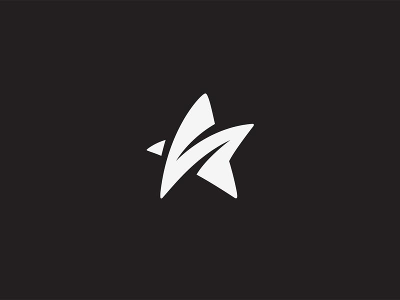 S star stars vertigo logo mark symbol brand identity milash
