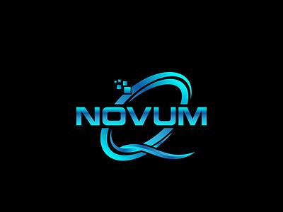 Q tech logo logo vector illustration design icon typography network data emblem logo creative round logo design blue color technology tech q