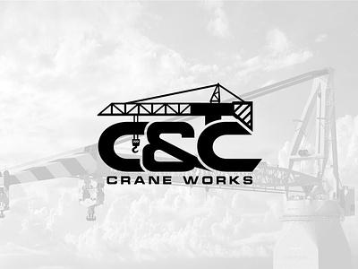 Crane/Construction logo typography branding logo design crane logo construction logo