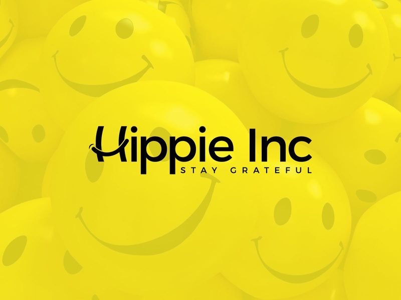 Hippie inc vector logo branding icon creative smile logo creative happy logo smiley happy logo smiling face smile logo joyful joy logo design happy birthday logo happy new year happy hippie inc